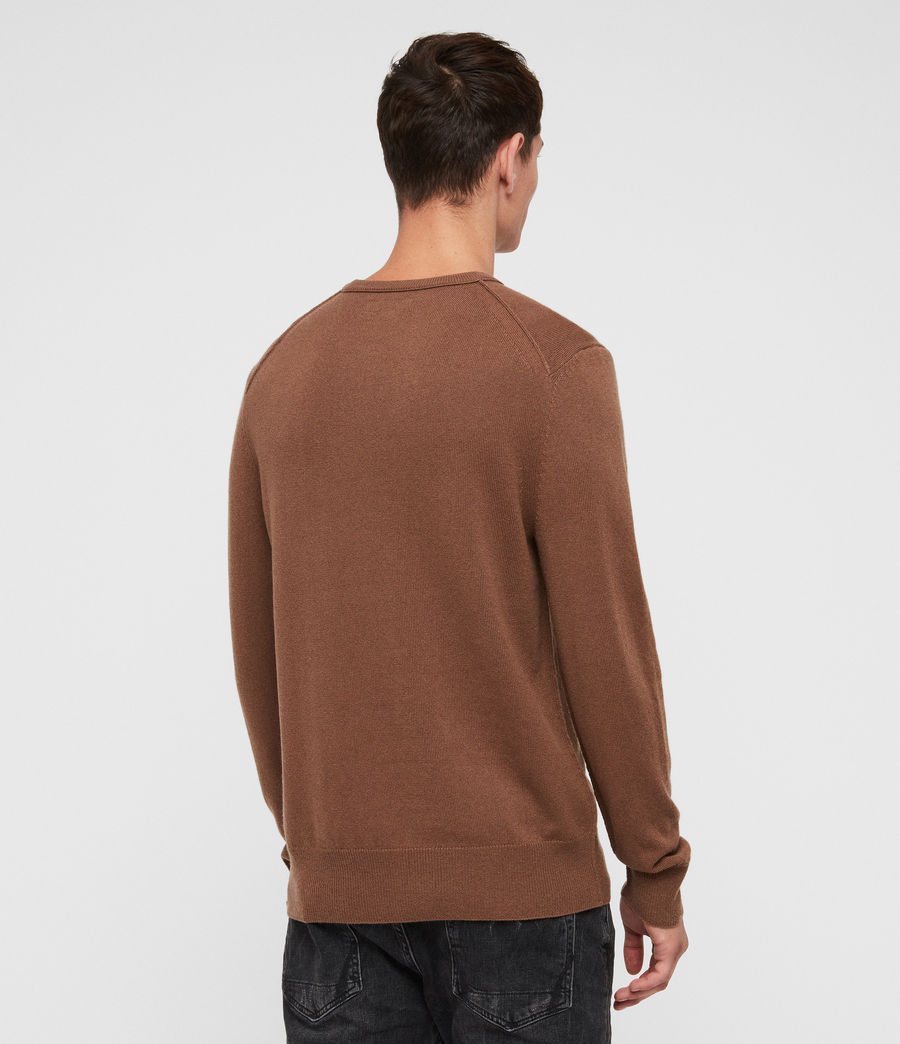 Mens Nova Crew Sweater (camel_brown) - Image 4