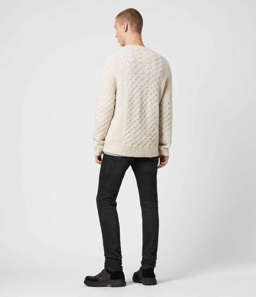 Men's Aran Crew Jumper (dune_white) - Image 5