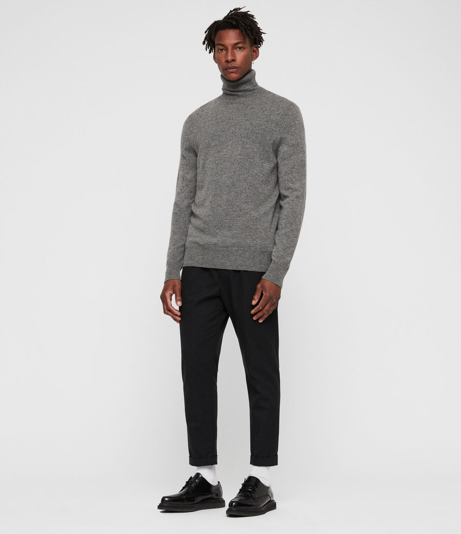 Men's Nova Roll Neck Jumper (grey_marl) - Image 3