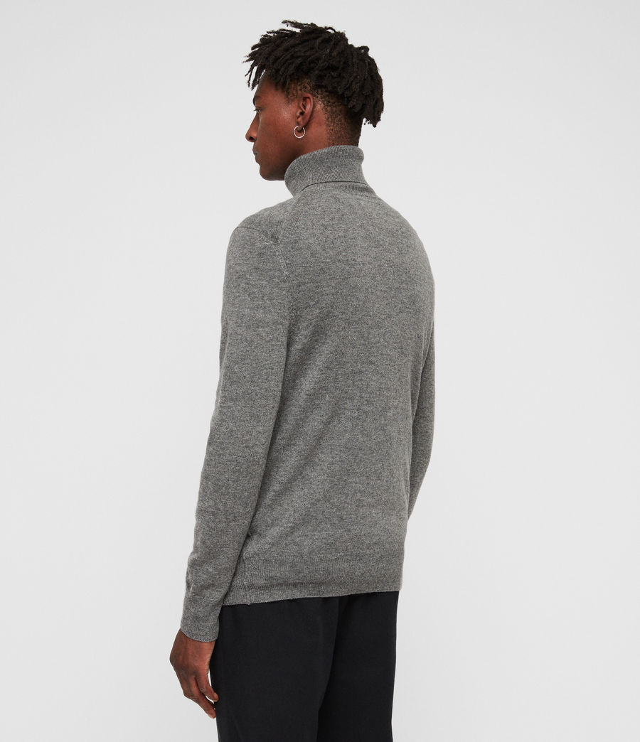 Men's Nova Roll Neck Jumper (grey_marl) - Image 5