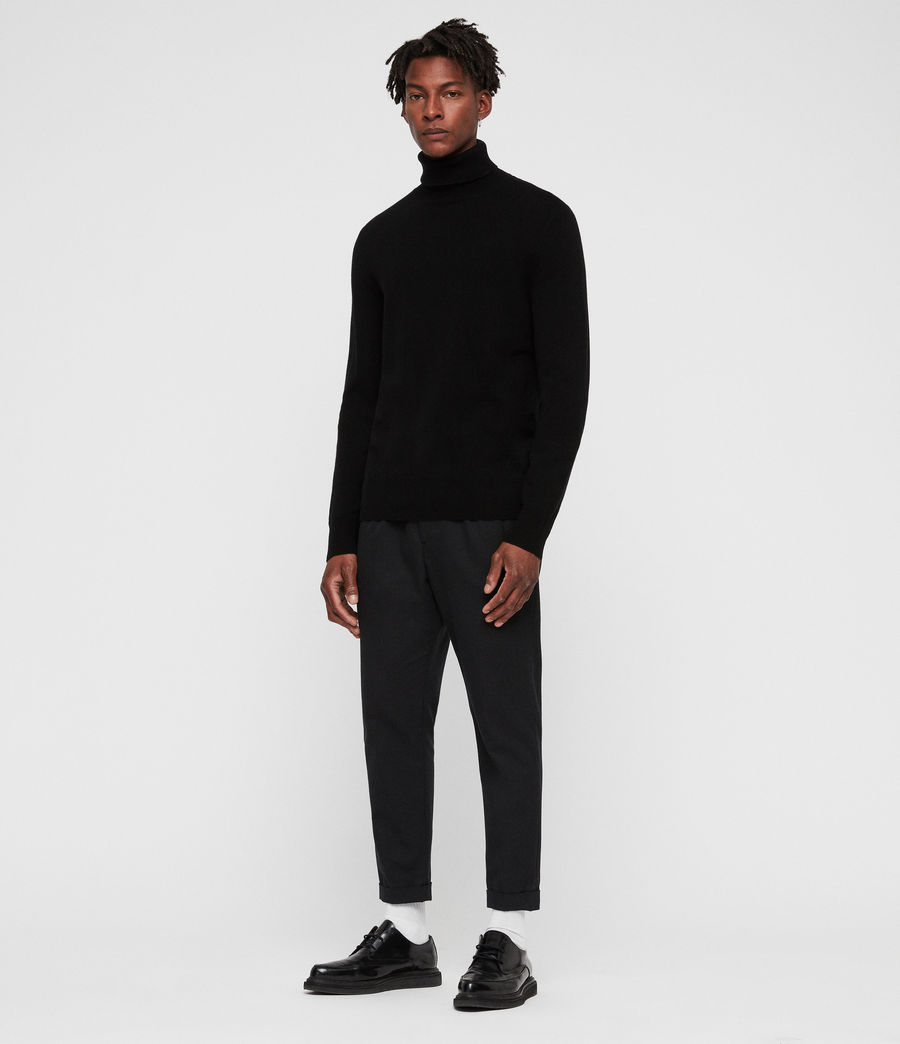 Men's Nova Roll Neck Jumper (black) - Image 1
