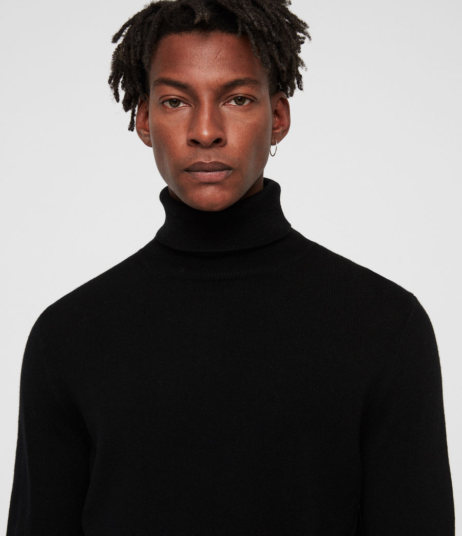 Men's Nova Roll Neck Jumper (black) - Image 2