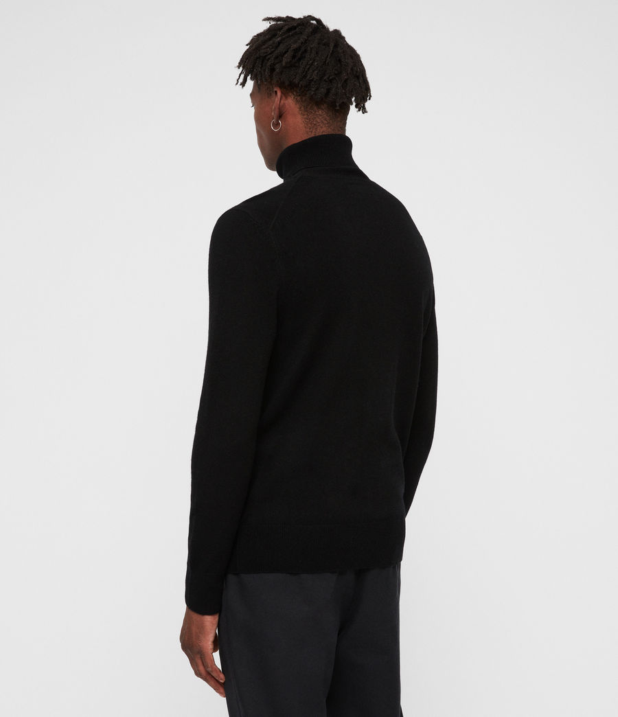 Men's Nova Roll Neck Jumper (black) - Image 4