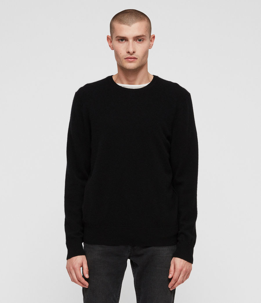 Men's Hyde Cashmere Crew Jumper (black) - Image 1