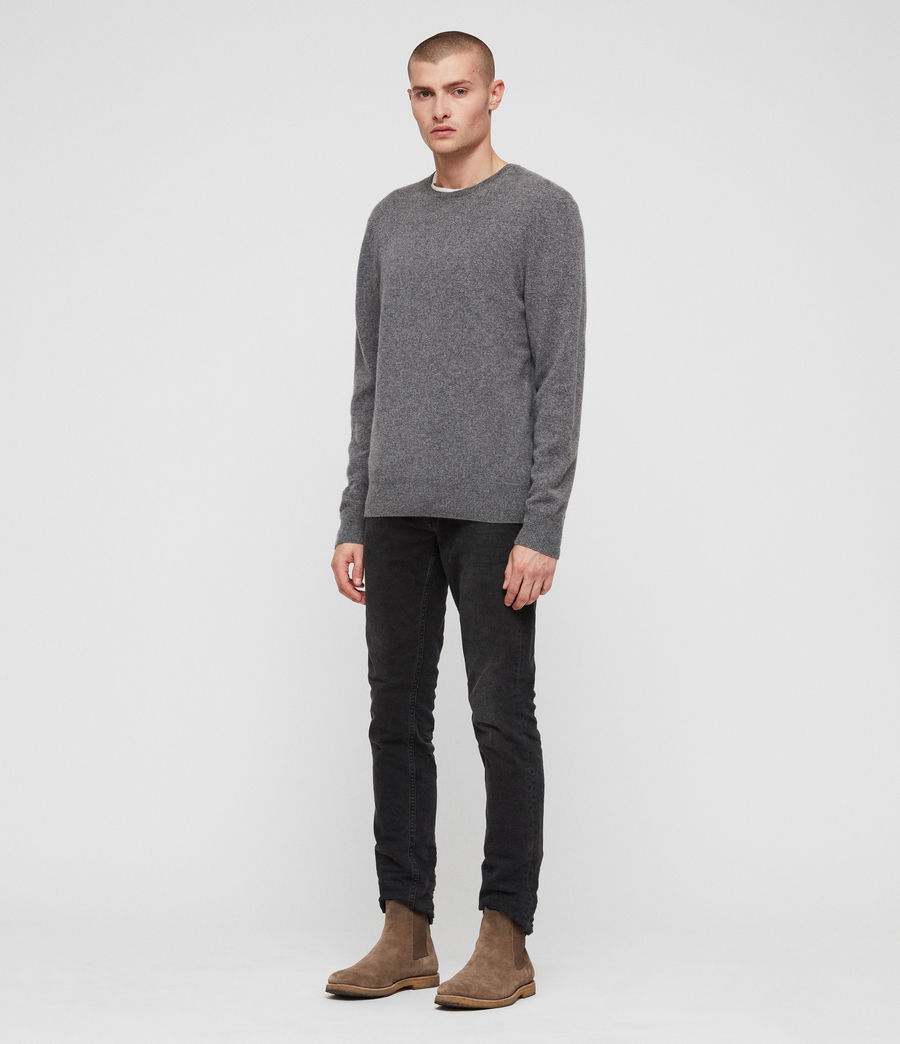 Mens Hyde Cashmere Crew Sweater (charcoal_marl) - Image 3