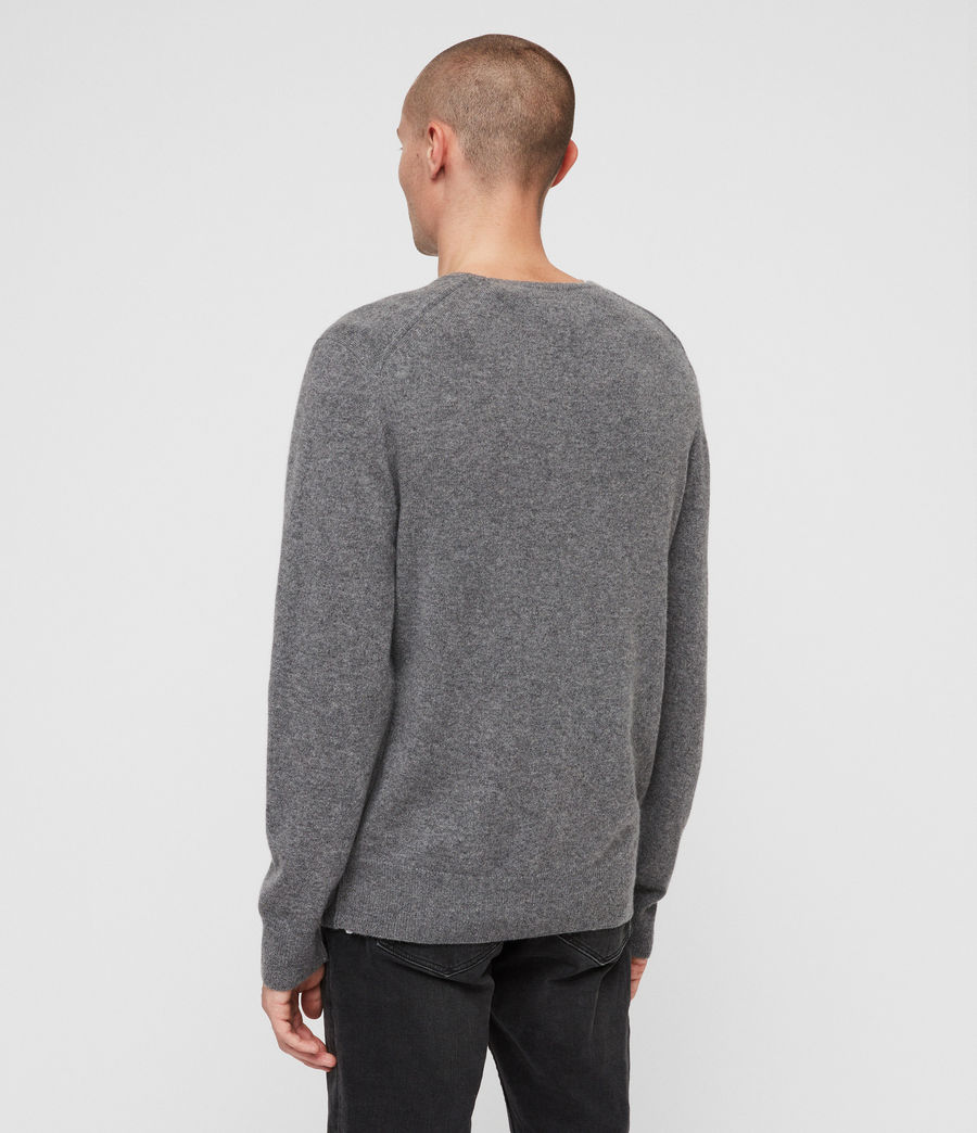 Mens Hyde Cashmere Crew Sweater (charcoal_marl) - Image 5