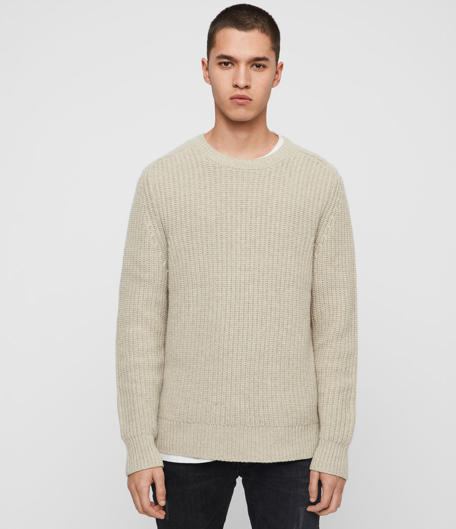 Mens Galley Crew Sweater (taupe_marl) - Image 1