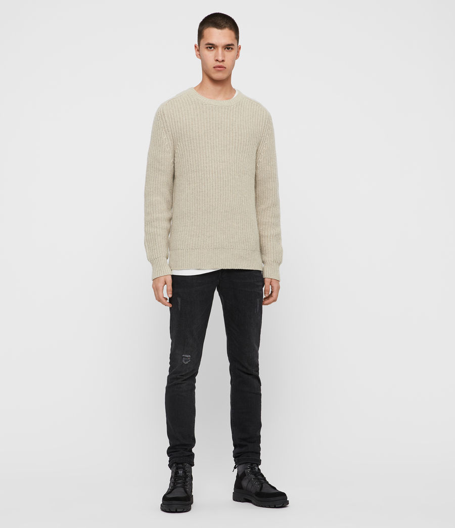 Mens Galley Crew Sweater (taupe_marl) - Image 3