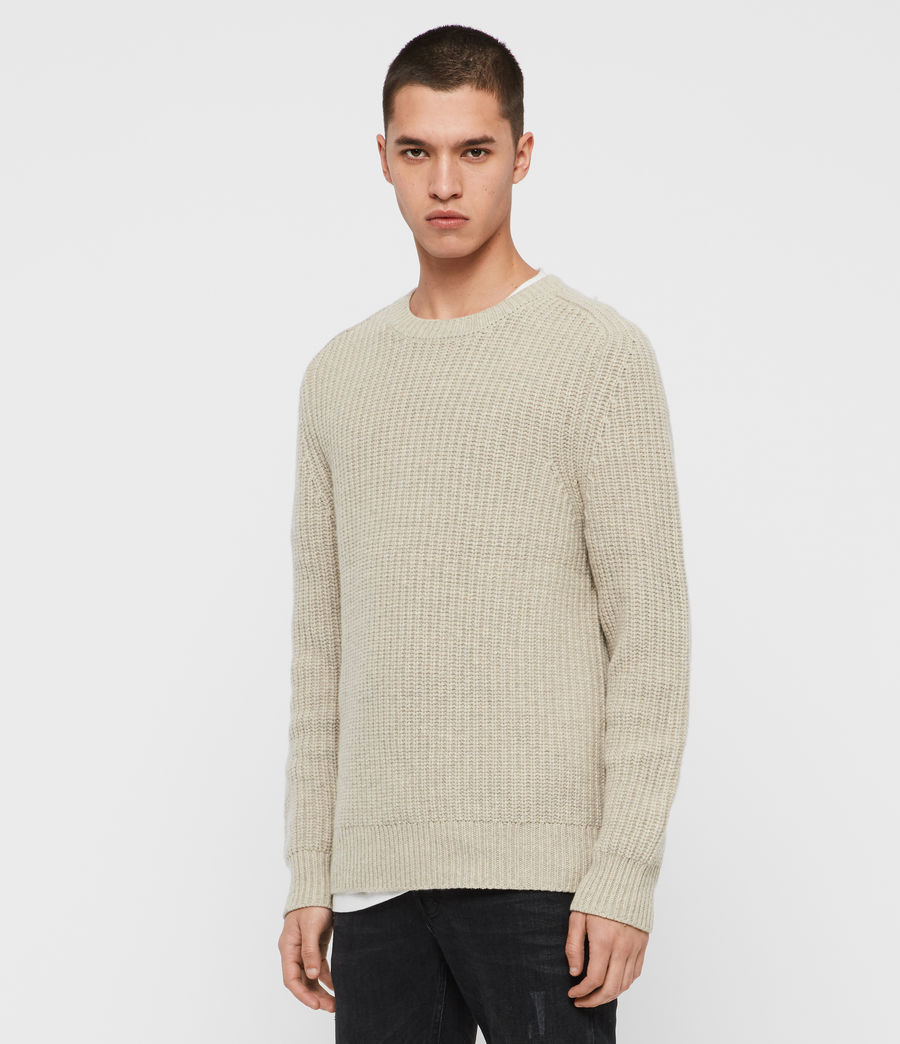 Mens Galley Crew Sweater (taupe_marl) - Image 4