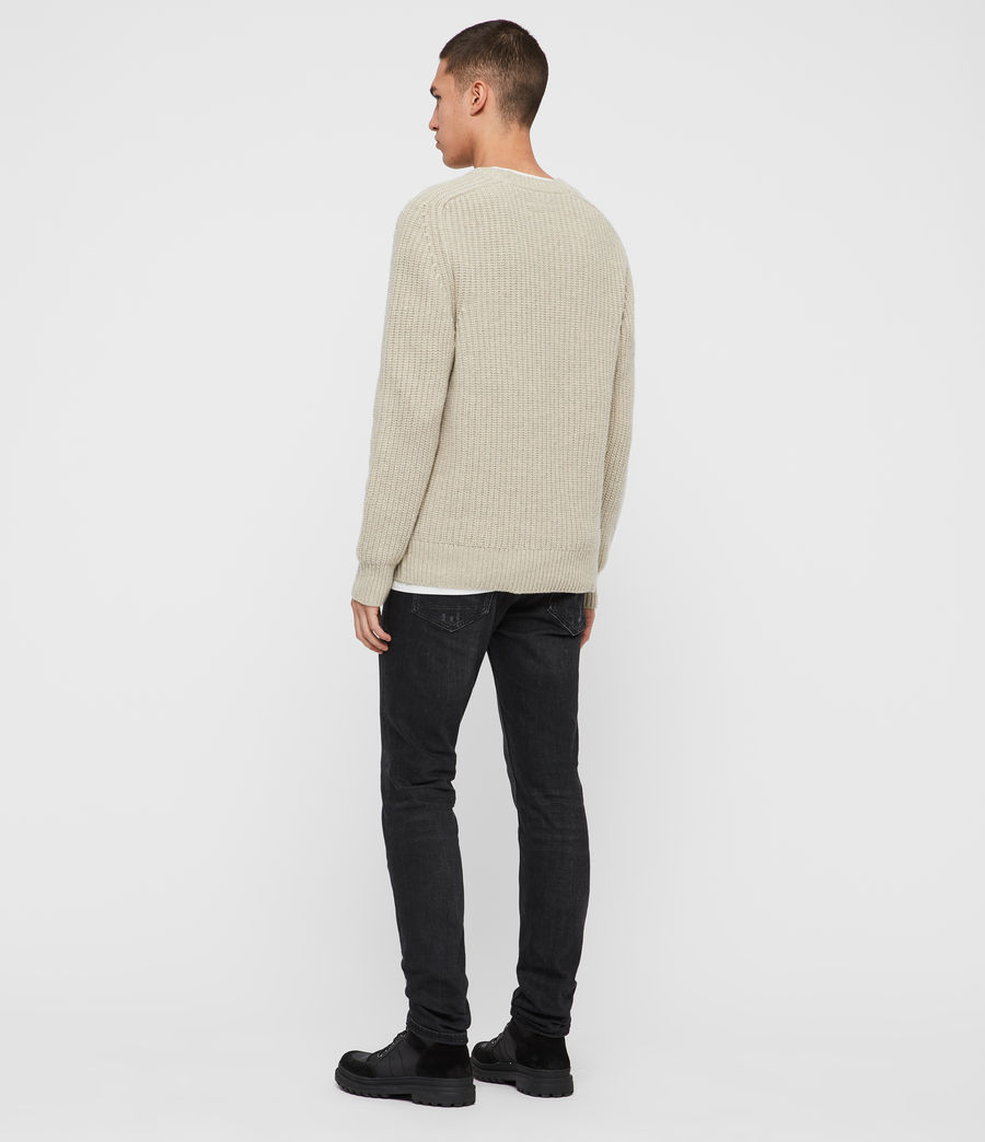 Mens Galley Crew Sweater (taupe_marl) - Image 5