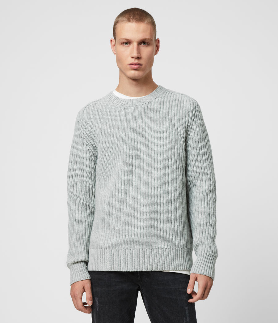 Men's Galley Crew Jumper (pebble_grey_marl) - Image 1
