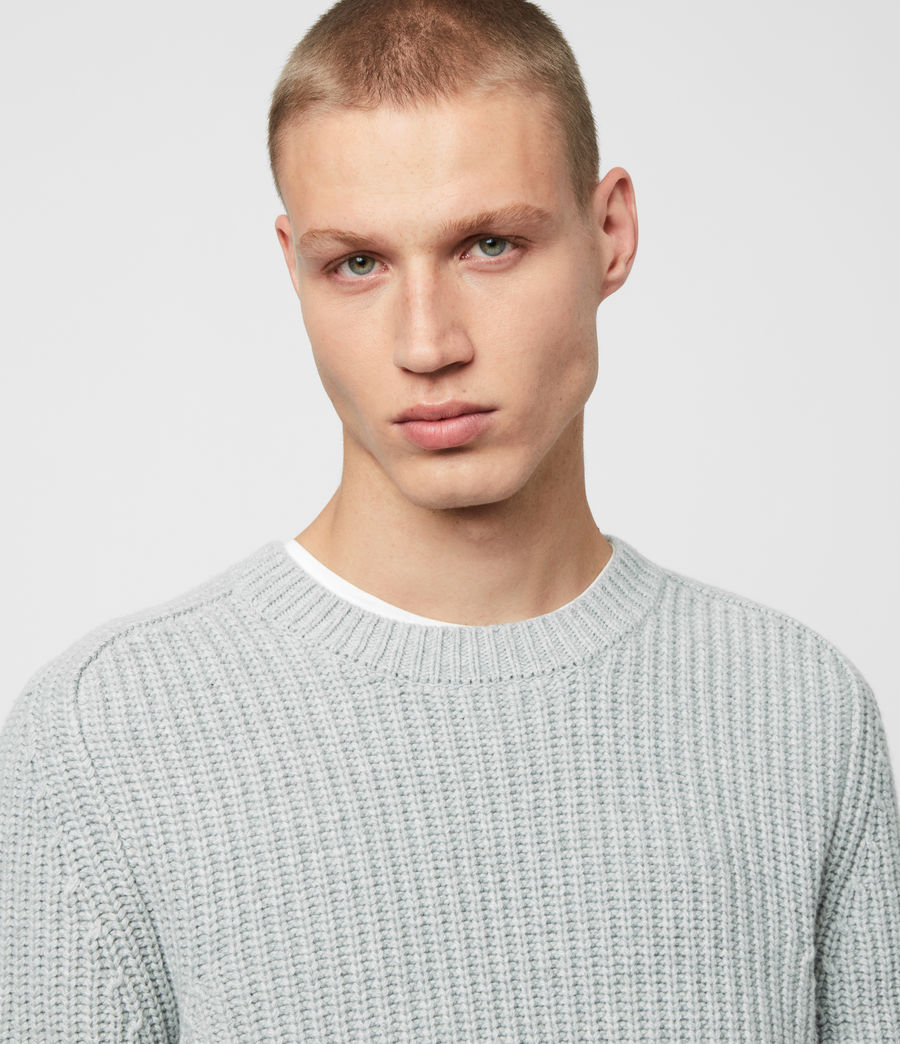 Men's Galley Crew Jumper (pebble_grey_marl) - Image 2