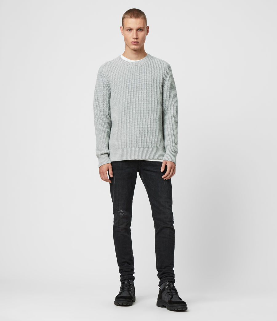 Men's Galley Crew Jumper (pebble_grey_marl) - Image 3