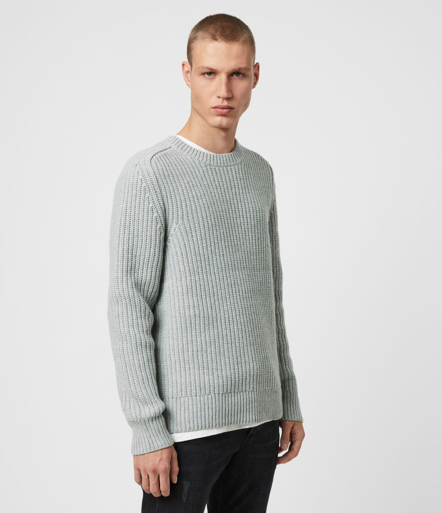 Men's Galley Crew Jumper (pebble_grey_marl) - Image 4