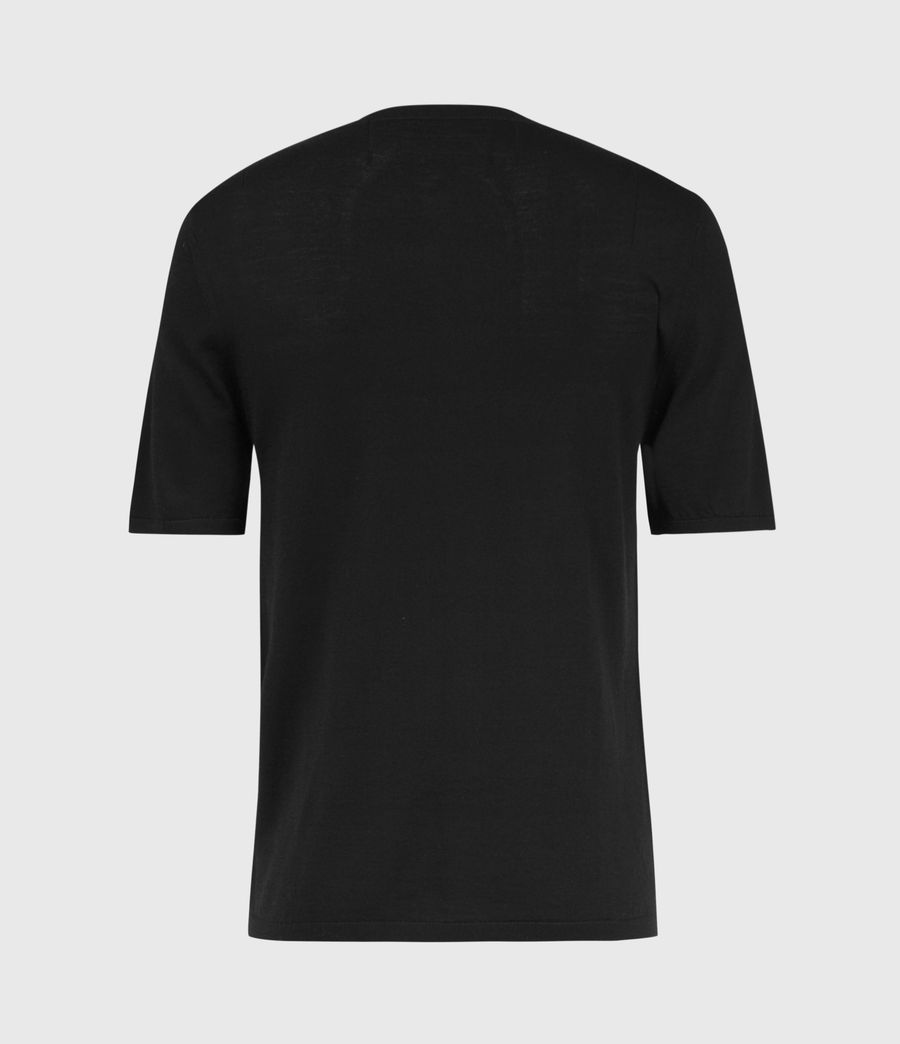 Men's Mode Merino Henley T-Shirt (black) - Image 3