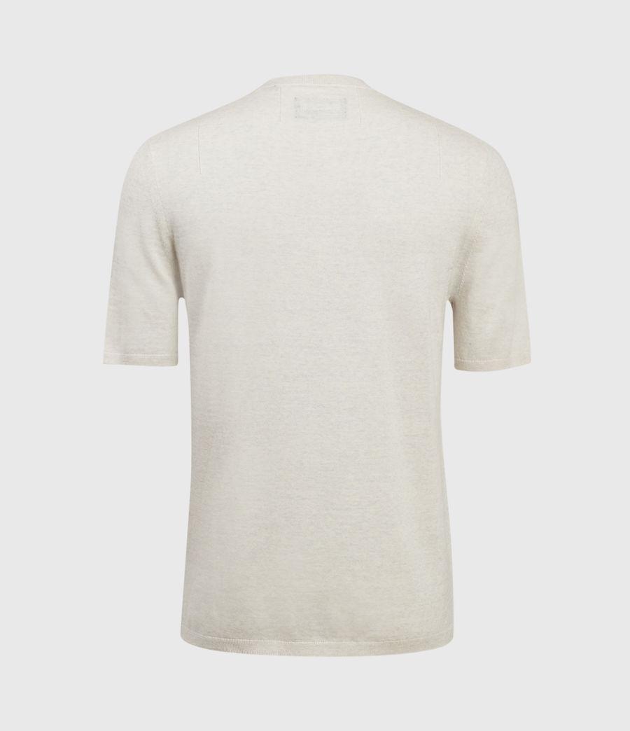 Hombres Mode Merino Henley T-Shirt (pine_ecru_marl) - Image 2
