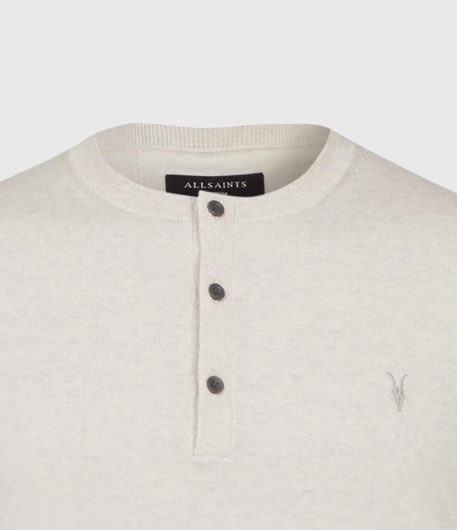 Hombres Mode Merino Henley T-Shirt (pine_ecru_marl) - Image 3