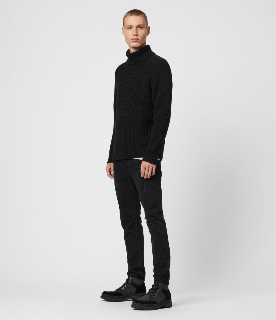 Mens Galley Funnel Neck Sweater (black) - Image 1