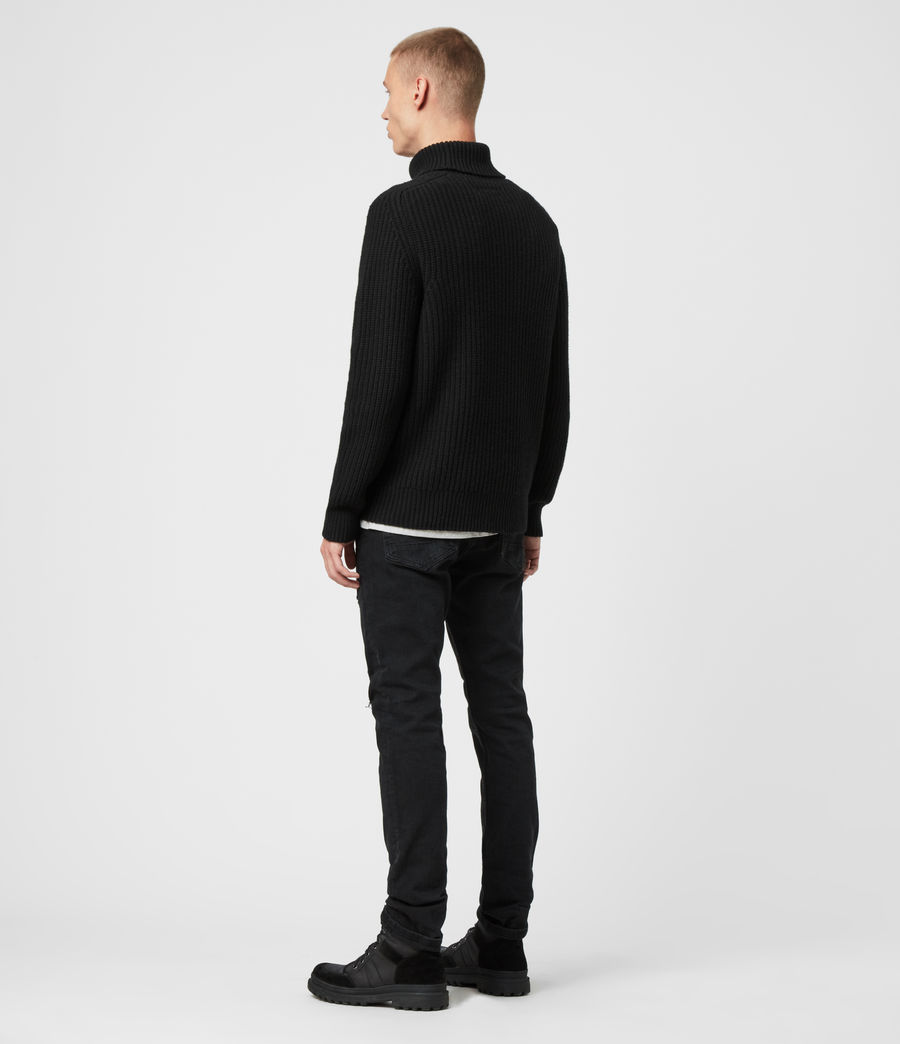 Mens Galley Funnel Neck Sweater (black) - Image 3