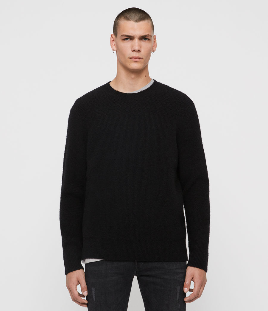 Mens Harbour Crew Sweater (black) - Image 1
