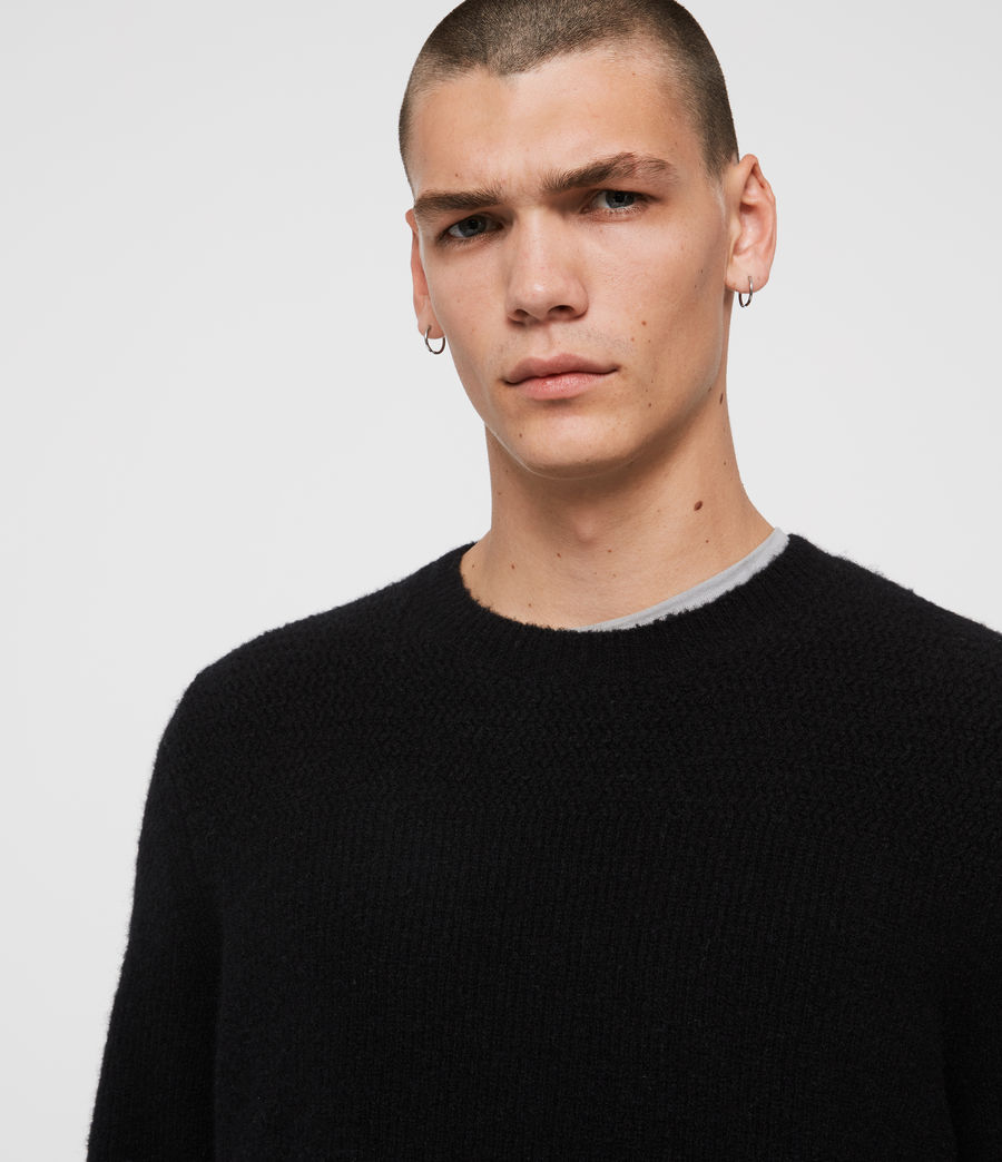 Mens Harbour Crew Sweater (black) - Image 2