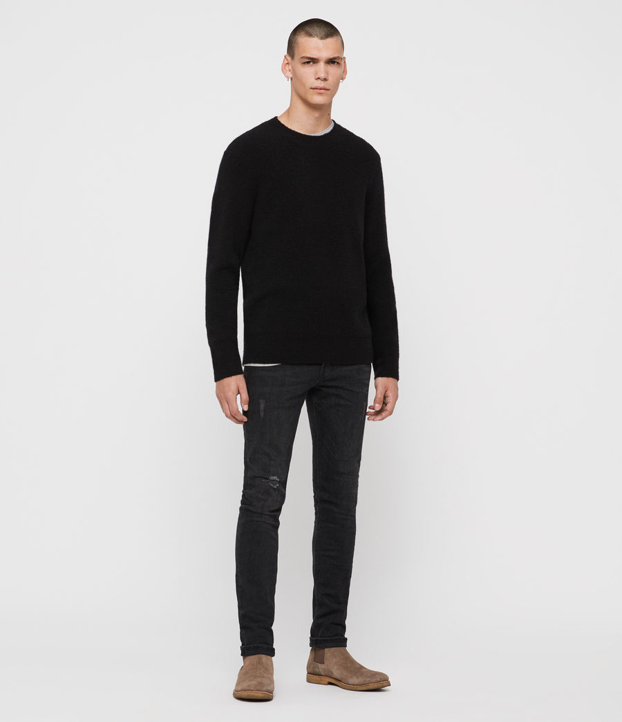 Mens Harbour Crew Sweater (black) - Image 3