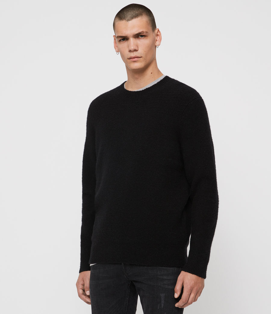 Mens Harbour Crew Sweater (black) - Image 4