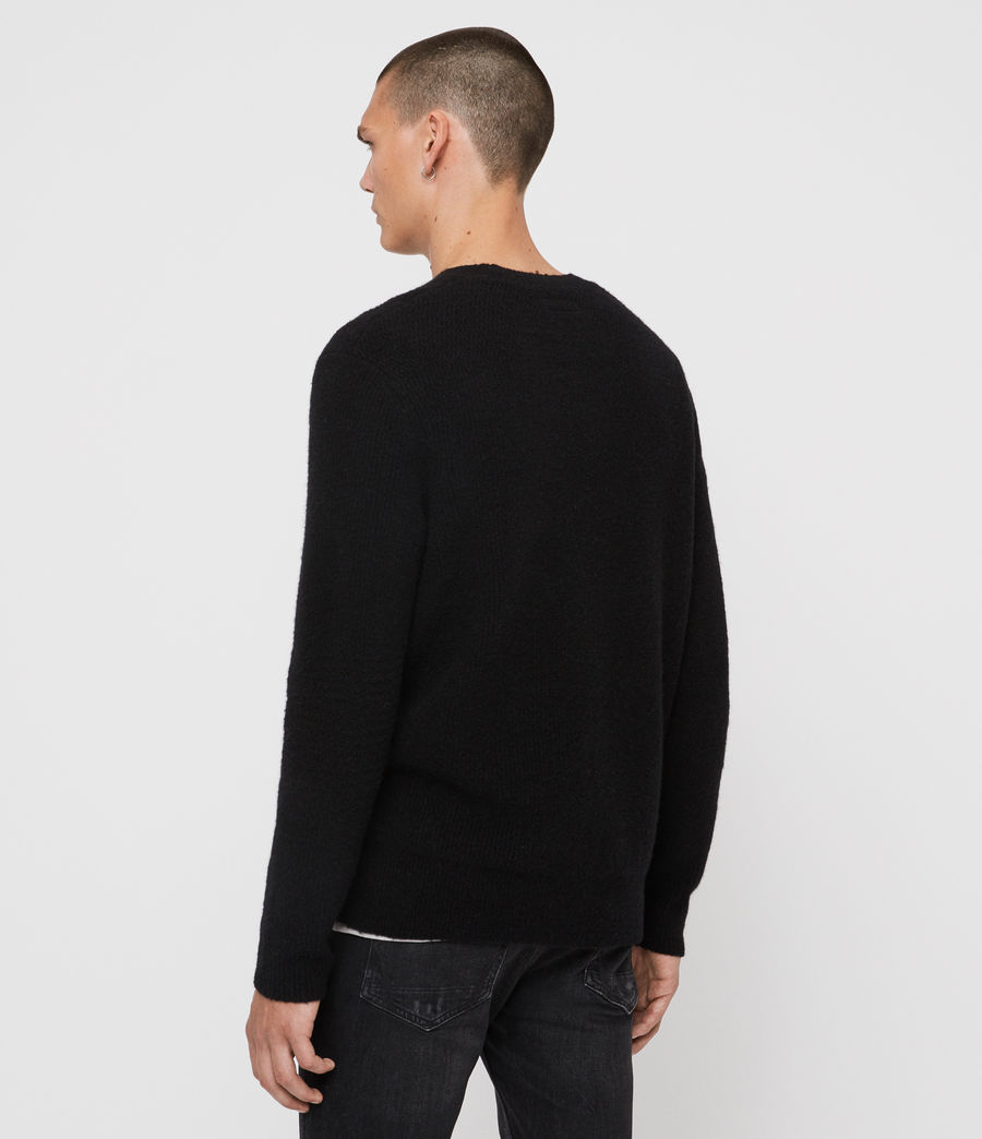 Mens Harbour Crew Sweater (black) - Image 5