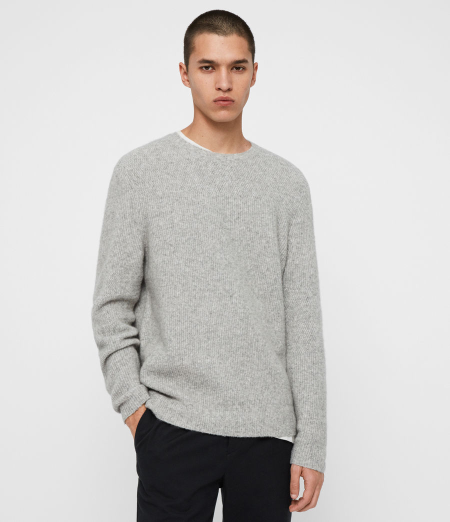 Men's Harbour Crew Jumper (tin_grey_marl) - Image 1