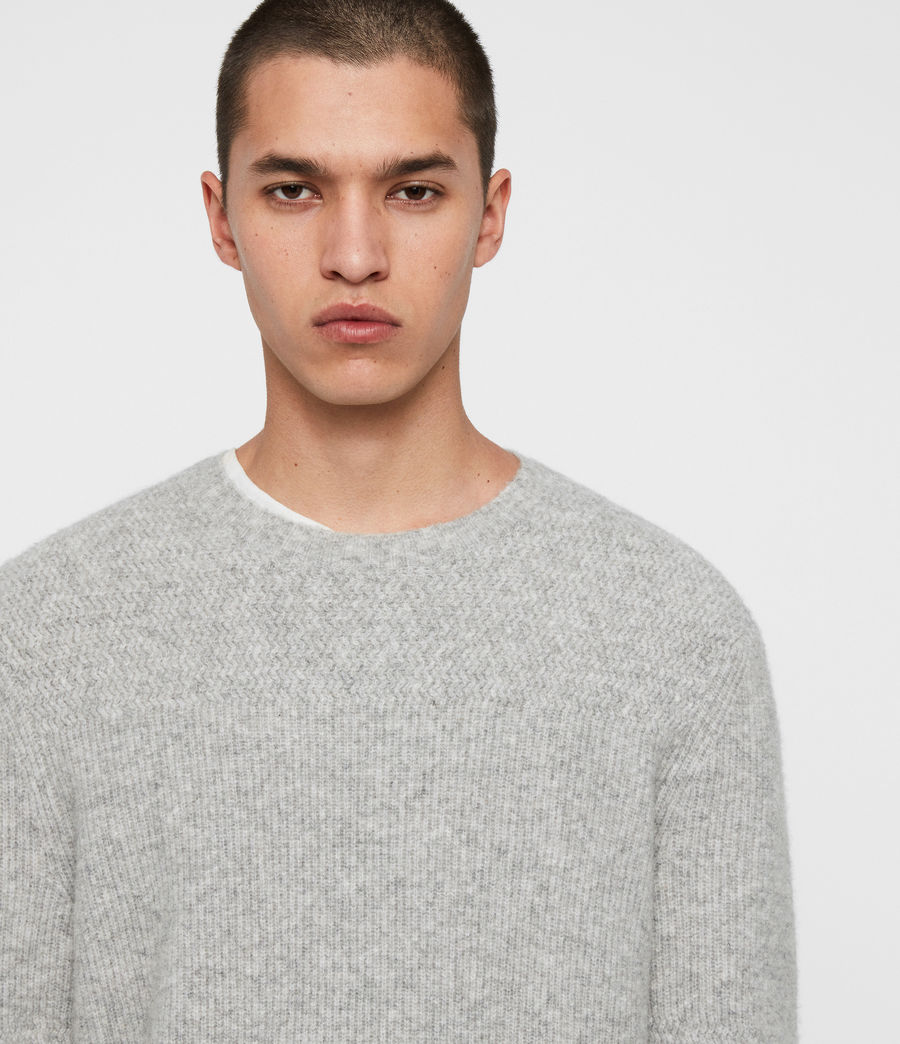 Men's Harbour Crew Jumper (tin_grey_marl) - Image 2