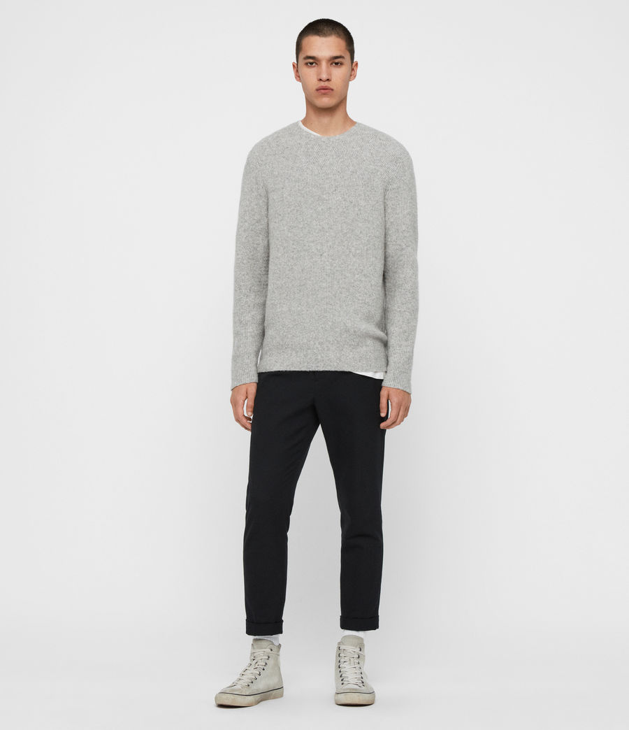 Men's Harbour Crew Jumper (tin_grey_marl) - Image 3