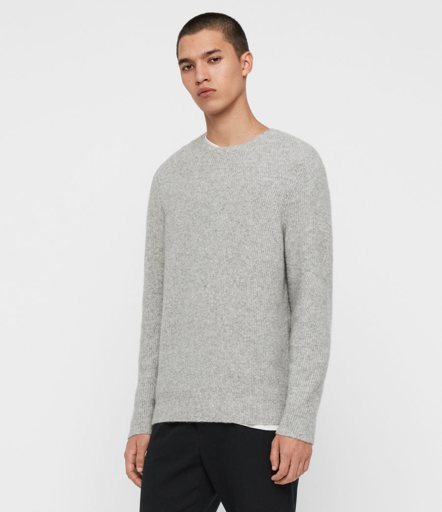 Men's Harbour Crew Jumper (tin_grey_marl) - Image 4
