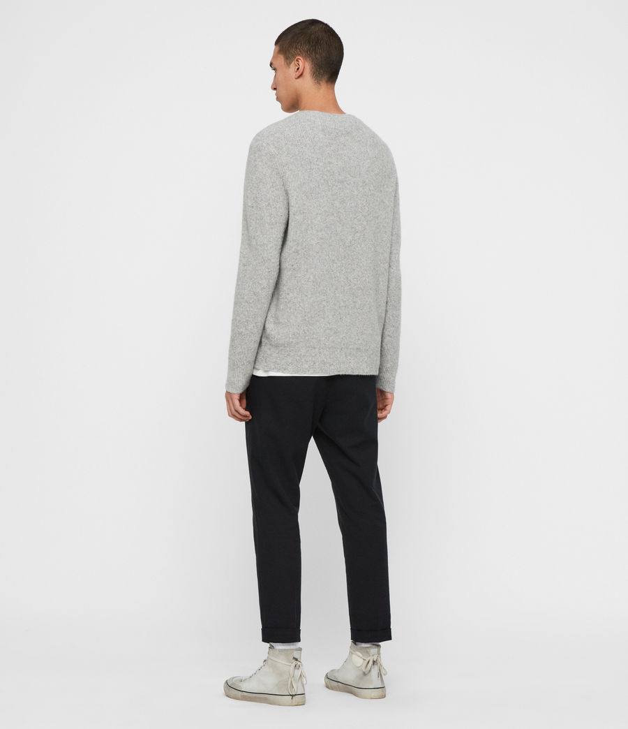 Men's Harbour Crew Jumper (tin_grey_marl) - Image 6
