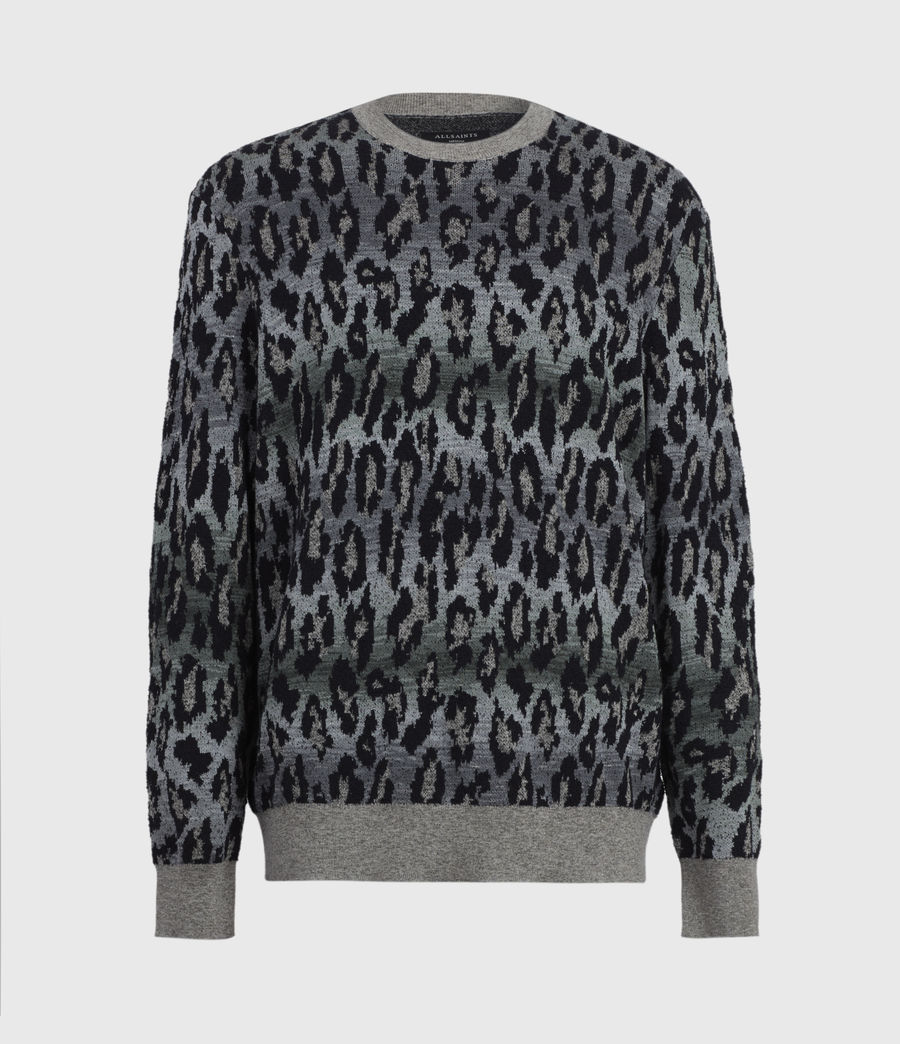 Mens Leo Fade Crew Sweater (putty_green) - Image 5