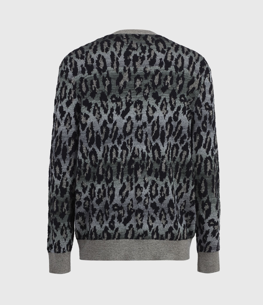Mens Leo Fade Crew Sweater (putty_green) - Image 1