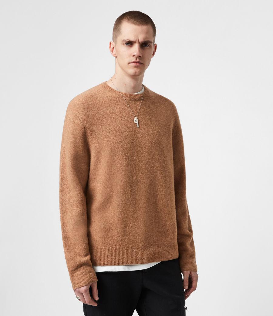 Mens Aurel Crew Sweater (acorn_brown) - Image 1