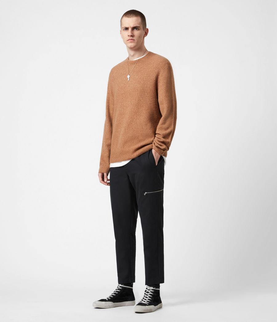 Mens Aurel Crew Sweater (acorn_brown) - Image 4
