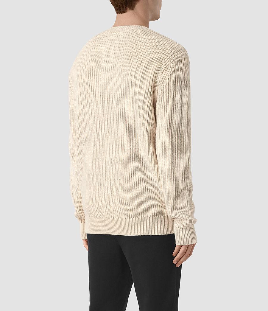 Mens Marsk Crew Sweater (ecru_taupe) - Image 3