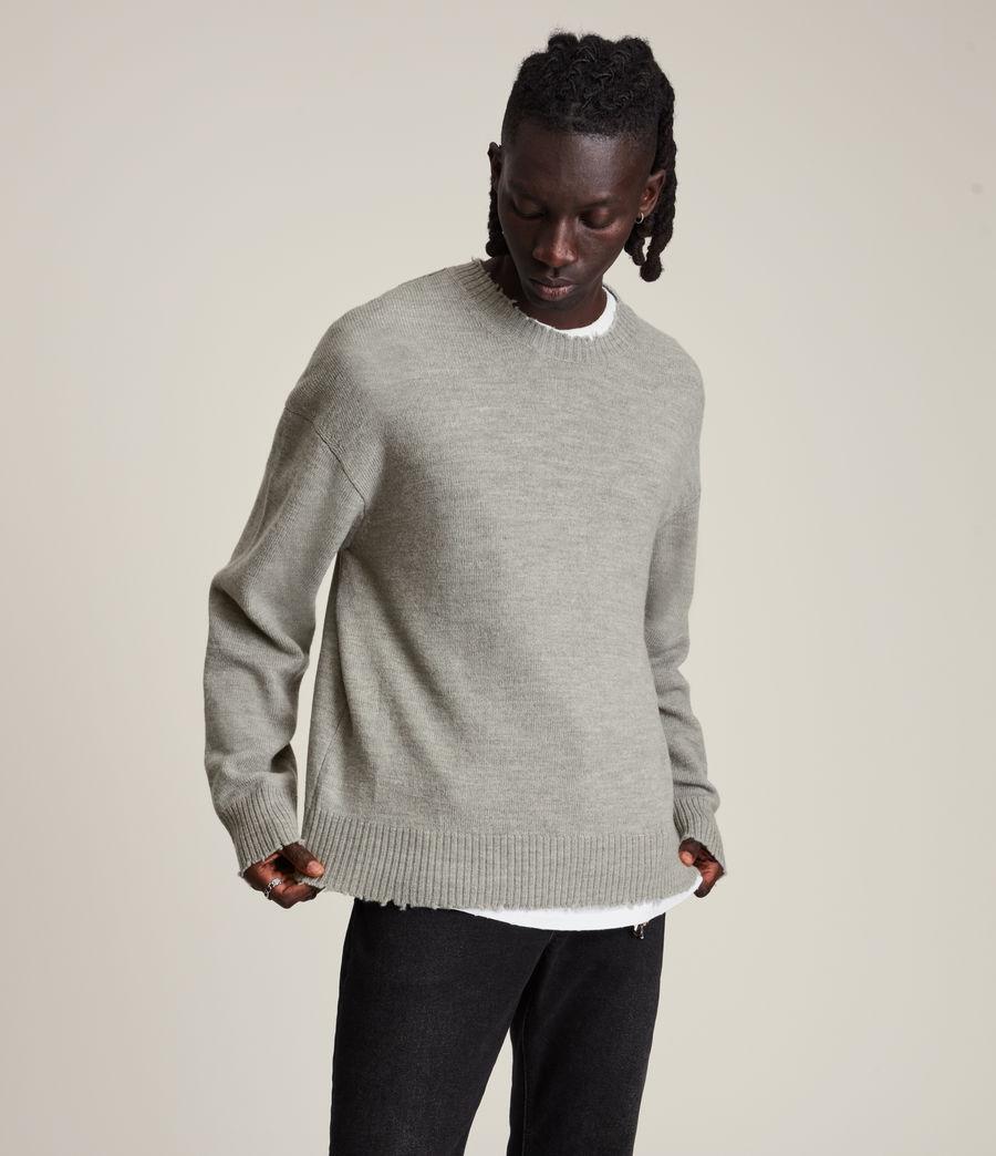 Men's Luxor Organic Wool Crew Jumper (grey_marl) - Image 1
