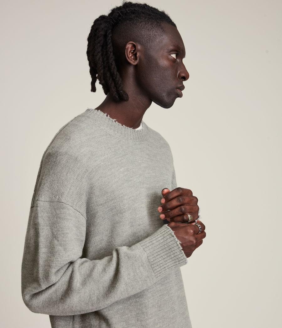 Men's Luxor Organic Wool Crew Jumper (grey_marl) - Image 2