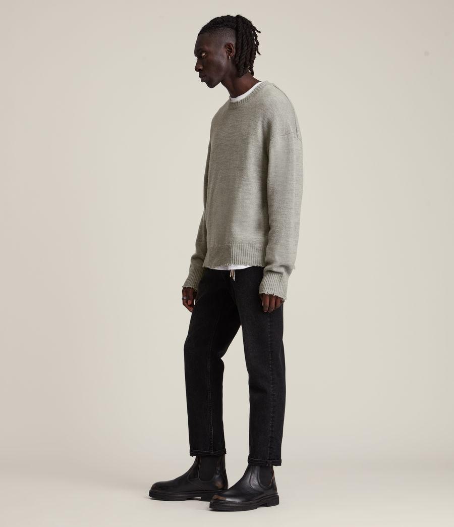 Men's Luxor Organic Wool Crew Jumper (grey_marl) - Image 3