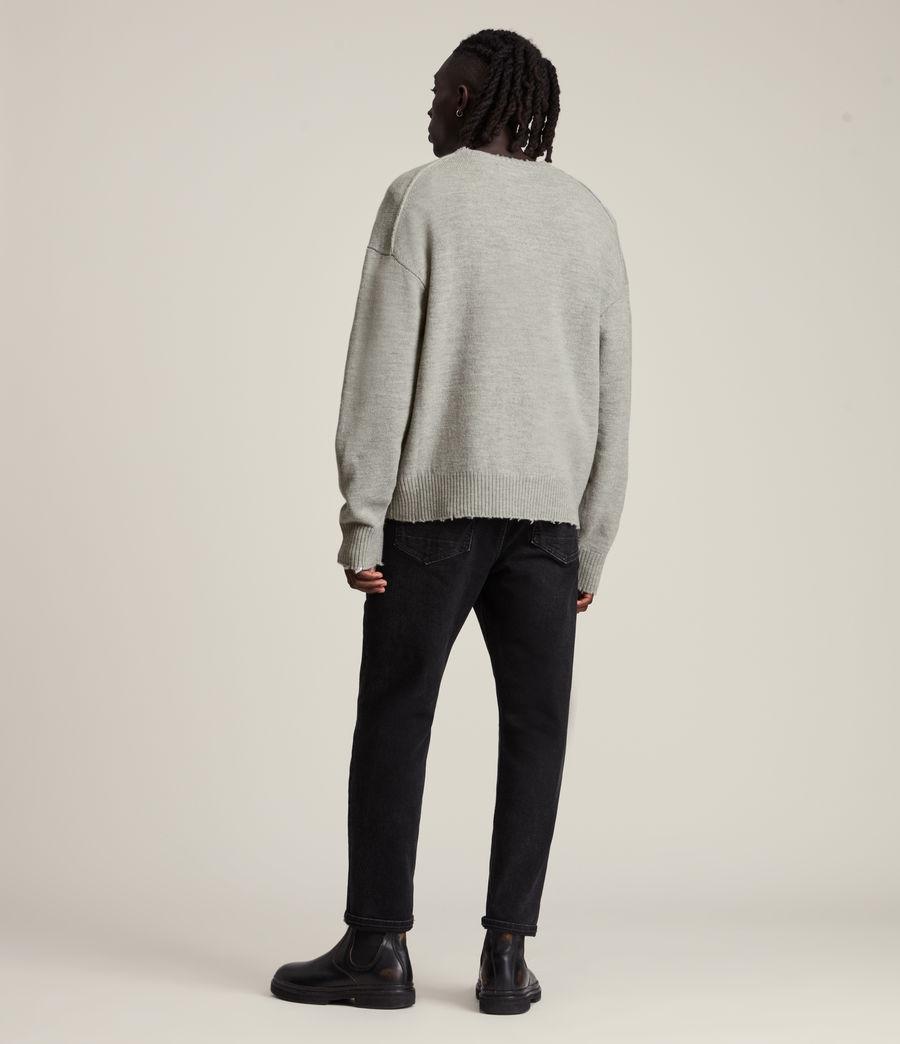 Men's Luxor Organic Wool Crew Jumper (grey_marl) - Image 5