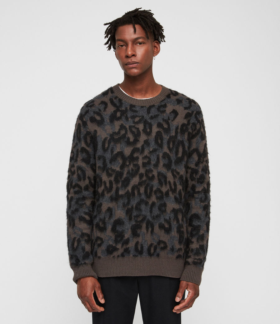 Mens Apex Crew Sweater (sandalwood_brown) - Image 1