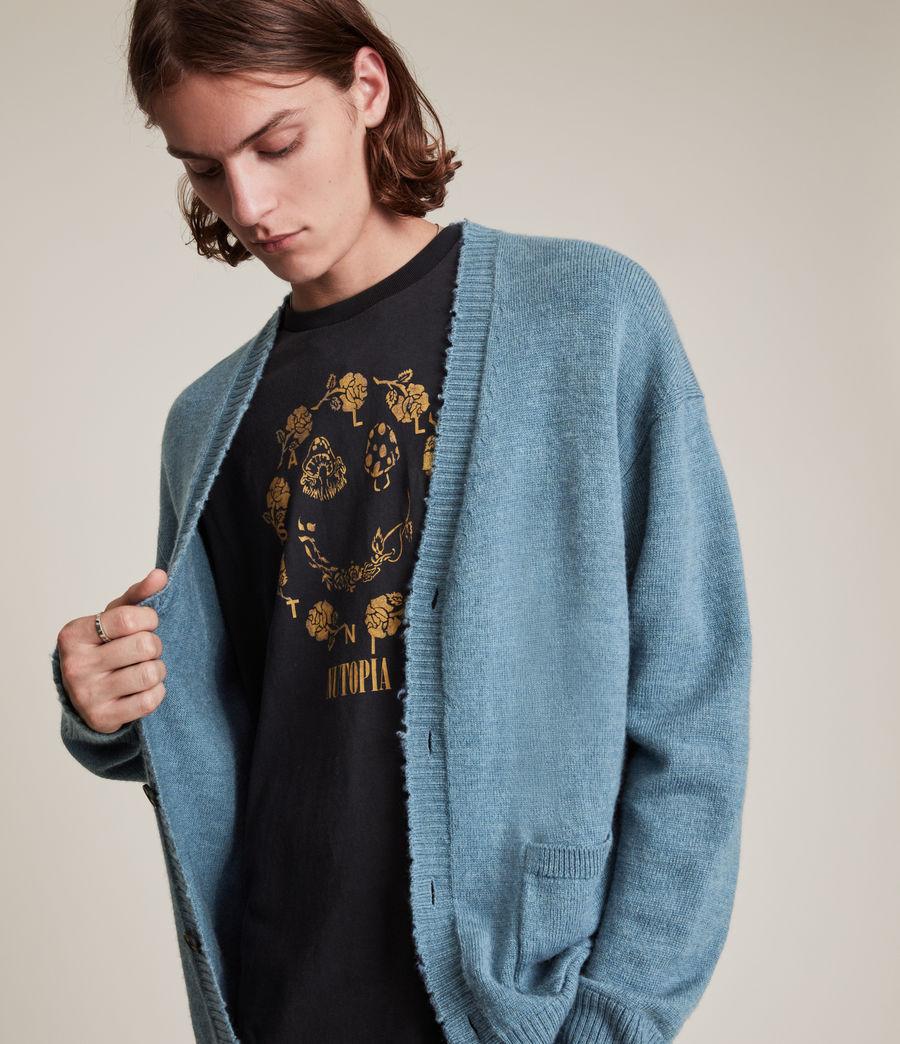 Men's Luxor Organic Wool Cardigan (adventurer_blue_ml) - Image 1