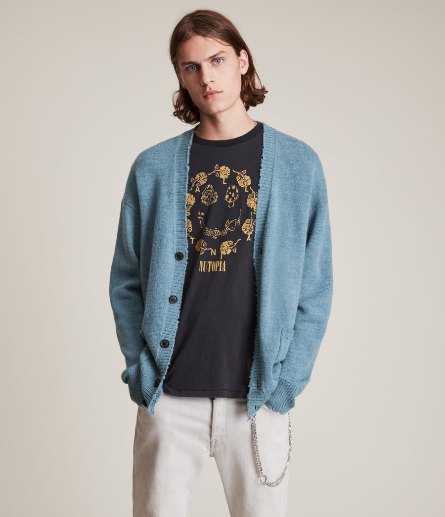 Men's Luxor Organic Wool Cardigan (adventurer_blue_ml) - Image 2