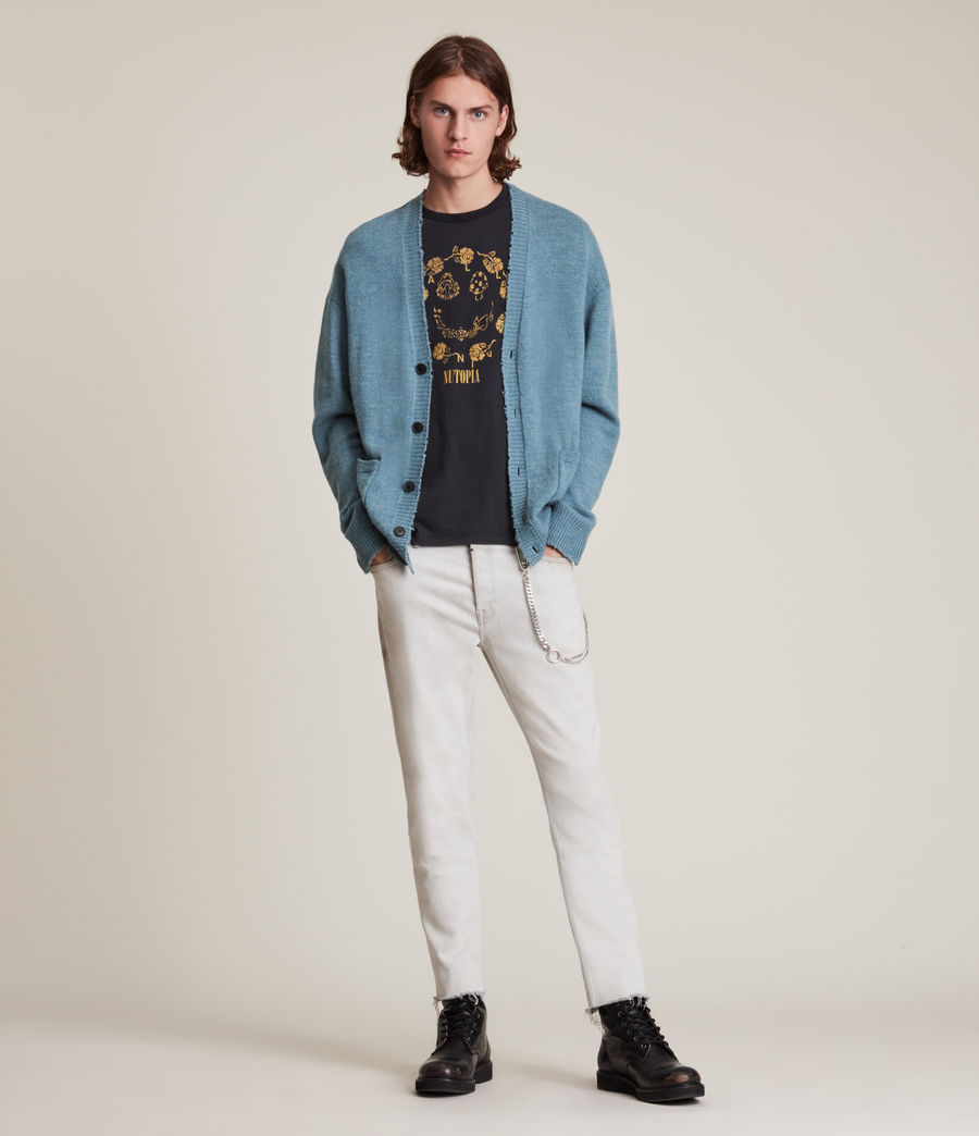 Men's Luxor Organic Wool Cardigan (adventurer_blue_ml) - Image 3