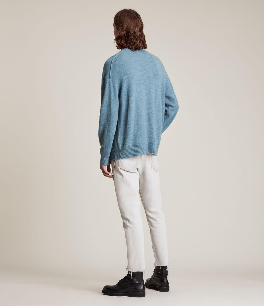 Men's Luxor Organic Wool Cardigan (adventurer_blue_ml) - Image 5