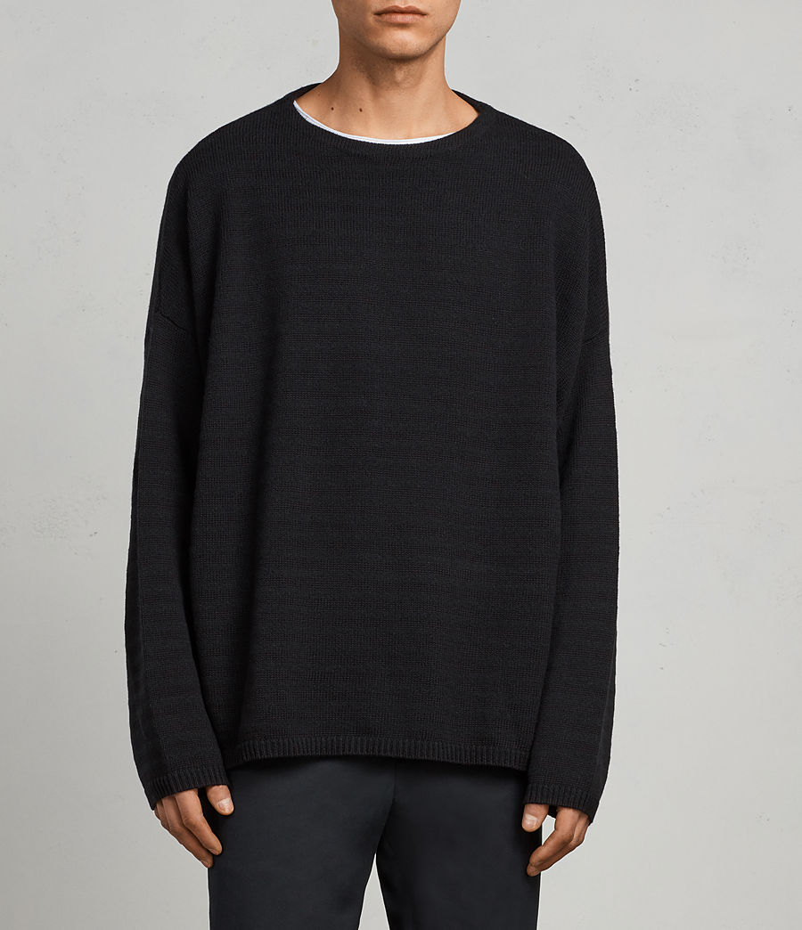Mens Blasco Crew Sweater (black) - Image 1