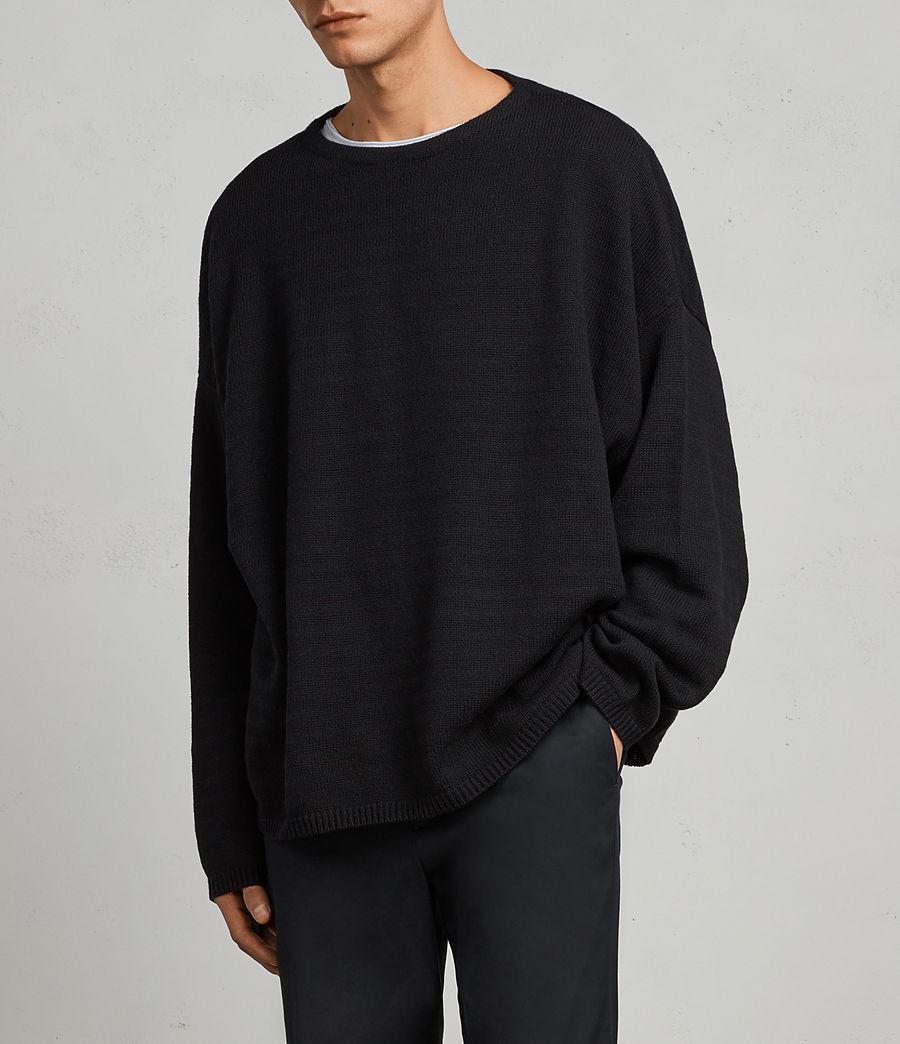 Mens Blasco Crew Sweater (black) - Image 3