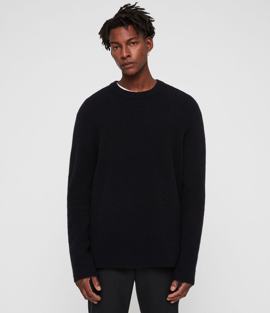 Mens Path Crew Sweater (ink_navy) - Image 1